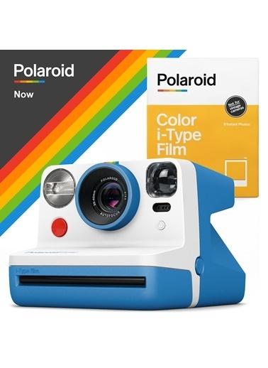 Polaroid Now Mavi Instant Fotoğraf Makinesi ve 8li Film Hediye Seti Mavi